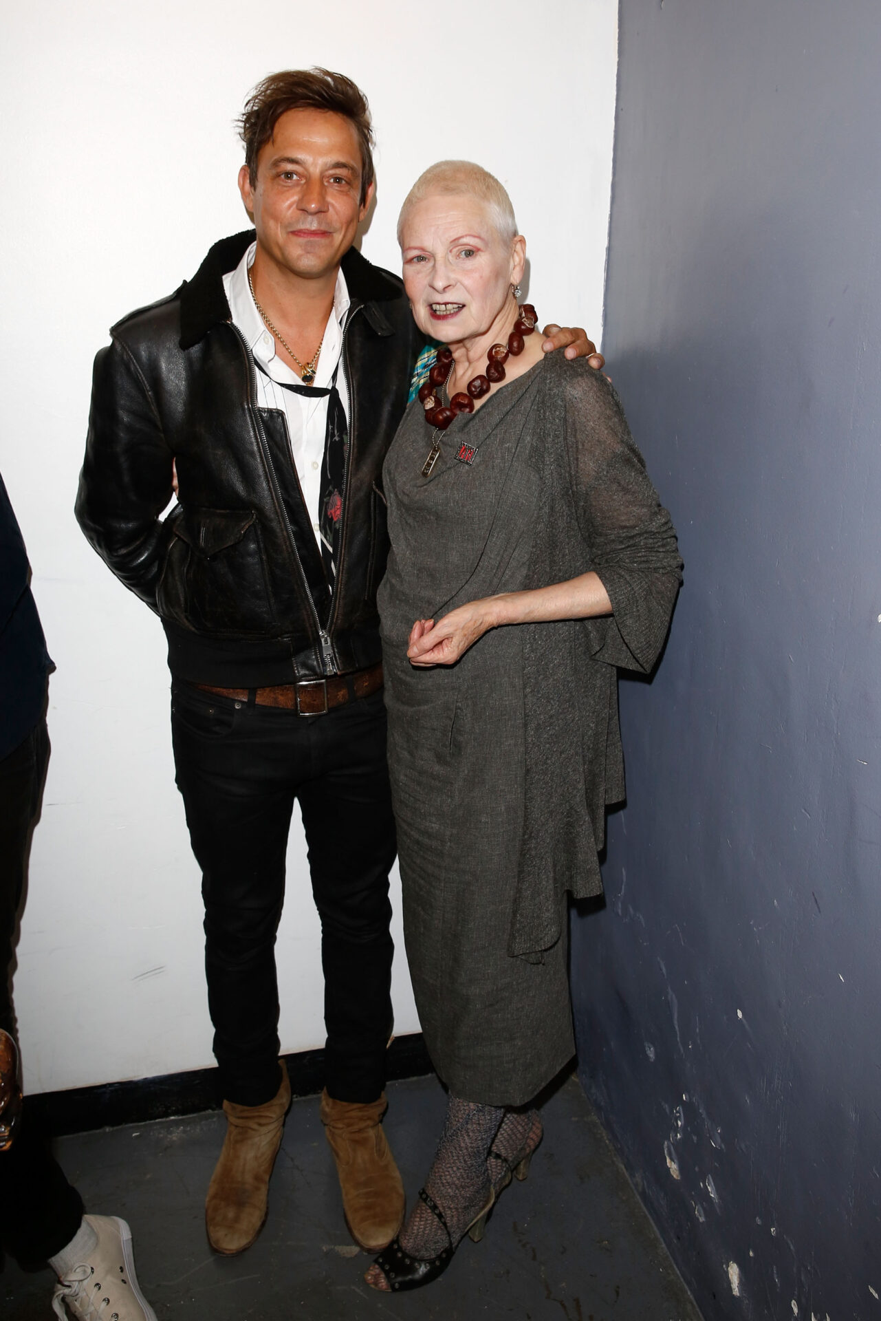 LONDON, ENGLAND - SEPTEMBER 04: Jamie Hince and Vivienne Westwood attend OFFtheGRID London event with Vivienne Westwood, Trillion Fund and Findinginfinity on September 4, 2014 in London, England. (Photo by David M. Benett/Getty Images for Vivienne Westwood / Trillion Fund / Findinginfinity) *** Local Caption *** Jamie Hince; Vivienne Westwood